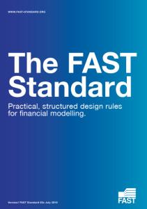 Стандарт финансового моделирования FAST